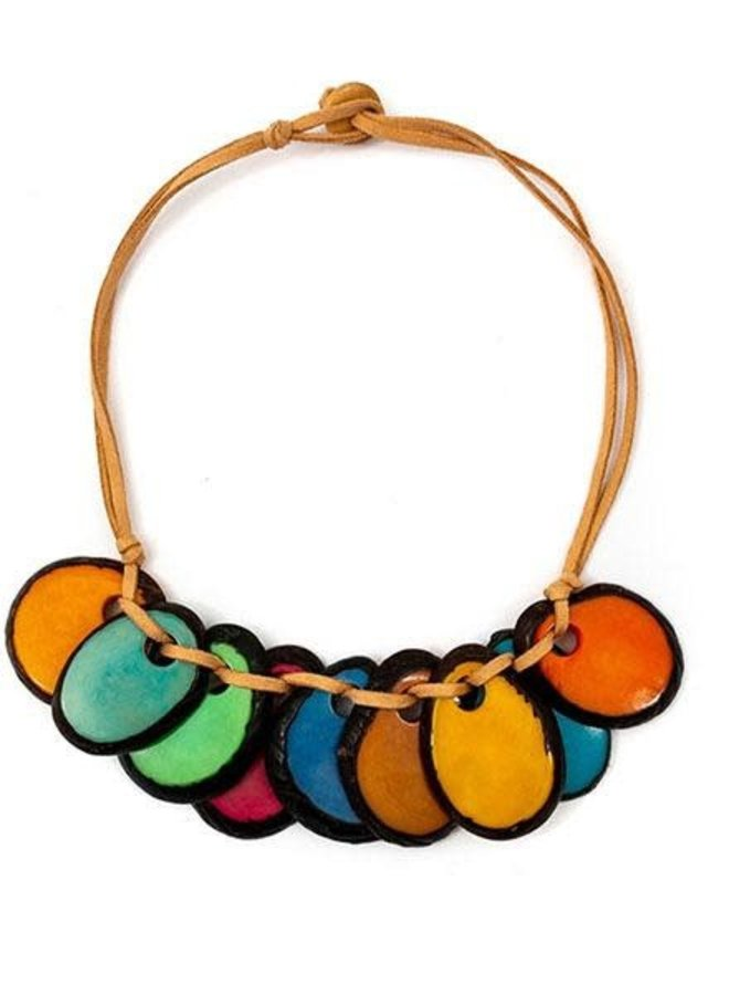 Tagua Luchie Necklace In Multi