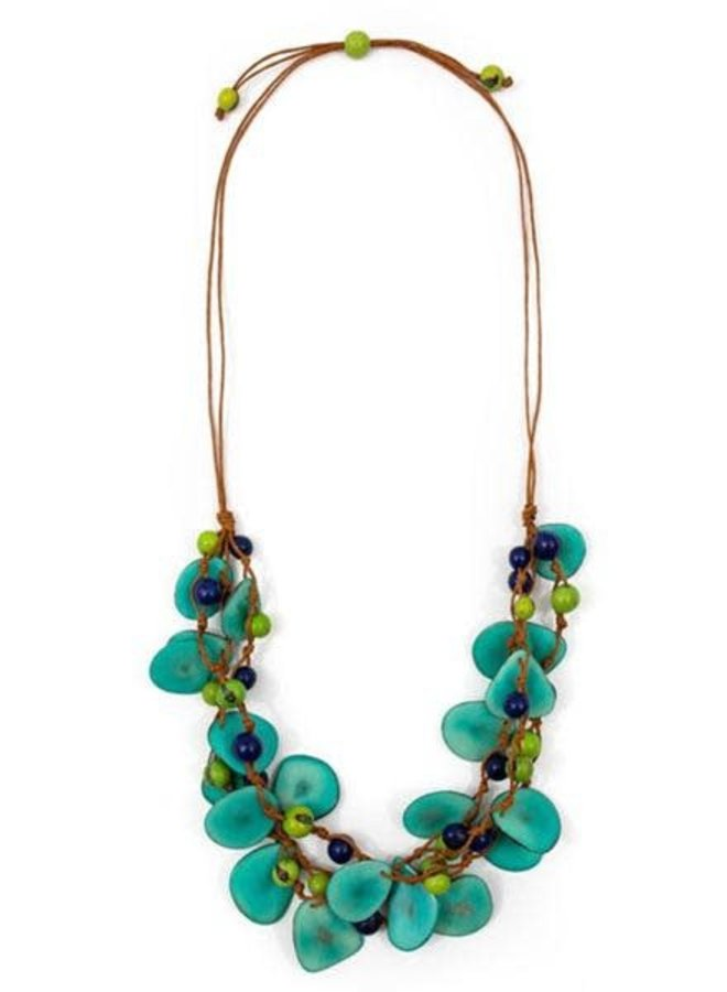 Tagua Marcela Necklace In Turquoise Combo