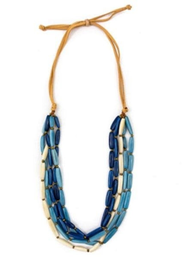 Tagua Nancy Necklace In Biscayne Bay Combo
