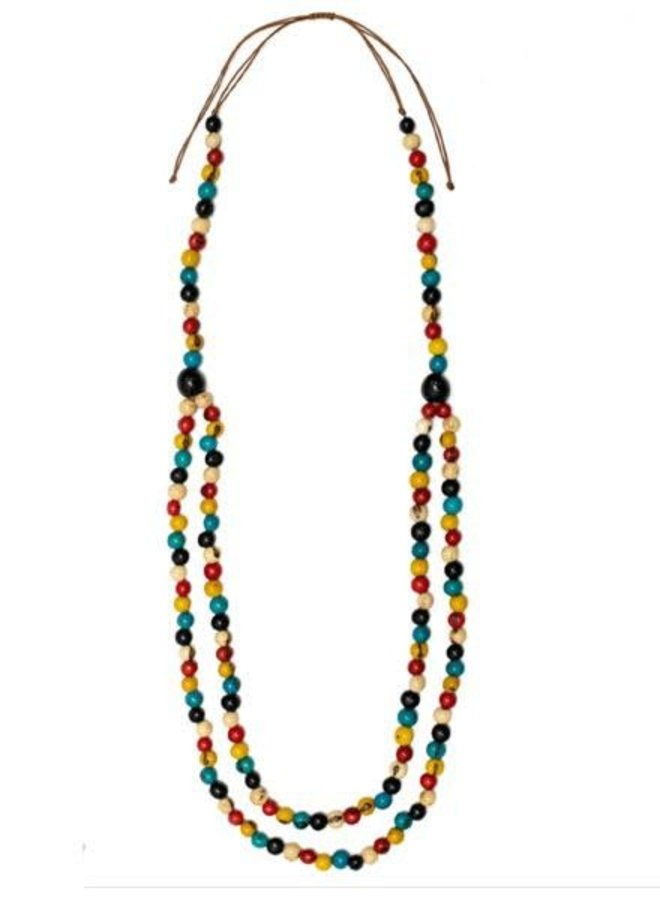 Tagua Shirley Necklace In Multi