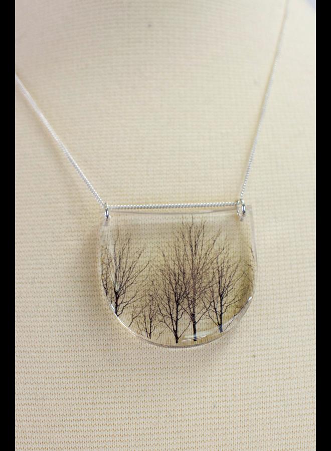 Black Drop Trees Necklace