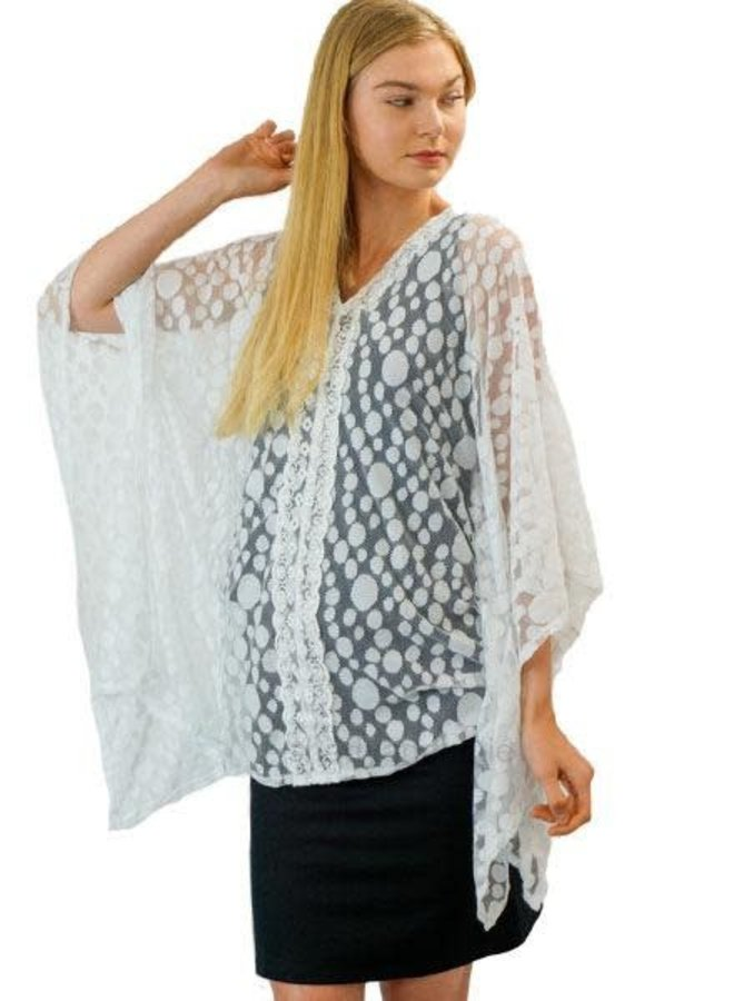 Cover Up Kimono in White