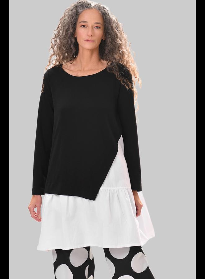 Alembika Black & White Tunic Top