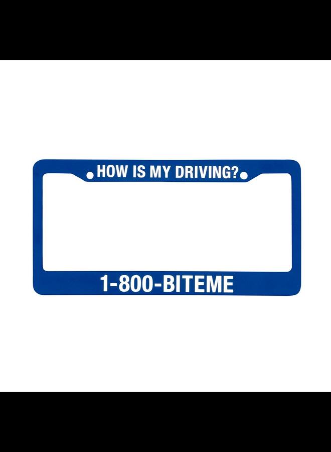 1-800 Bite Me License Plate Holder