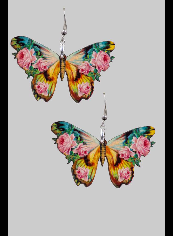 Vintage Image Butterfly Earrings