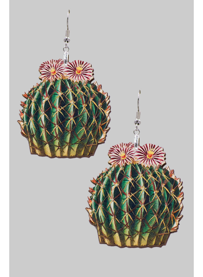 Cactus Succulent Plant Earrings