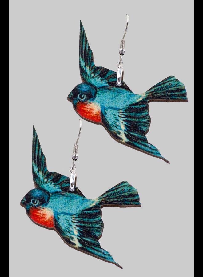 Flying Birds Earrings