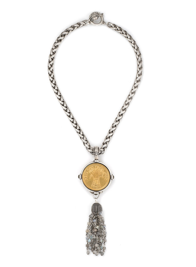 French Kande Bles D'or & Laboradorite Necklace