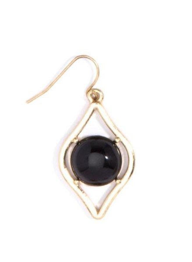 Sauron Drop Earrings In Black