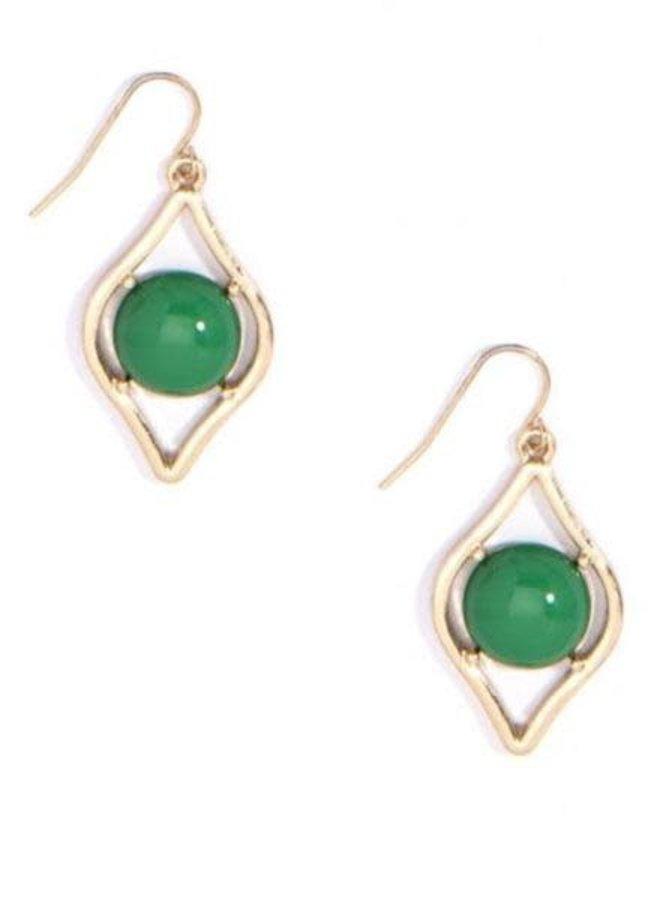 Sauron Drop Earrings In Green