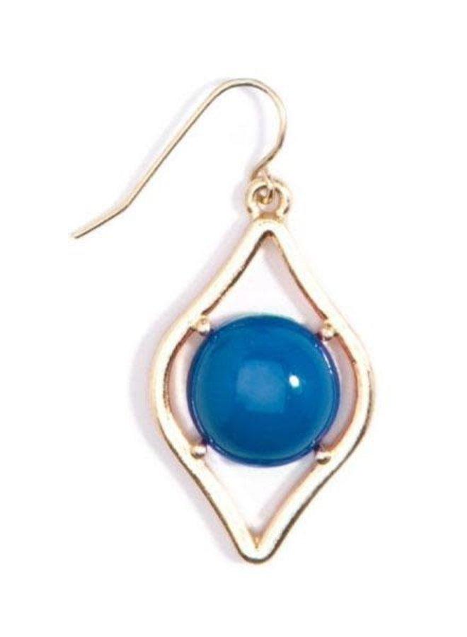 Sauron Drop Earrings In Cobalt