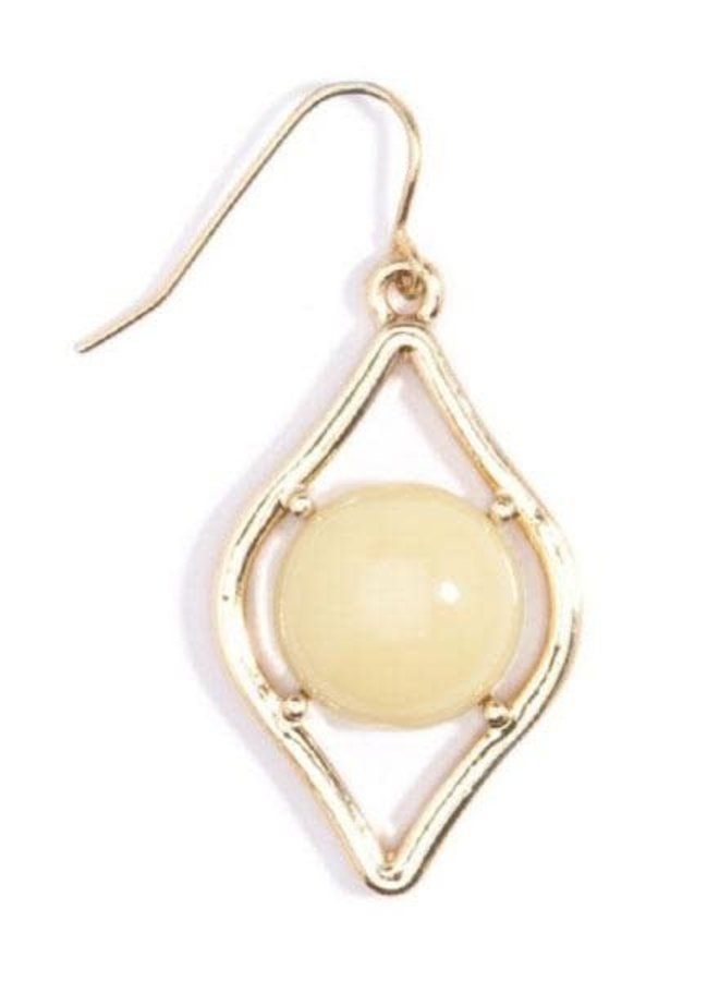 Sauron Drop Earrings In Cream