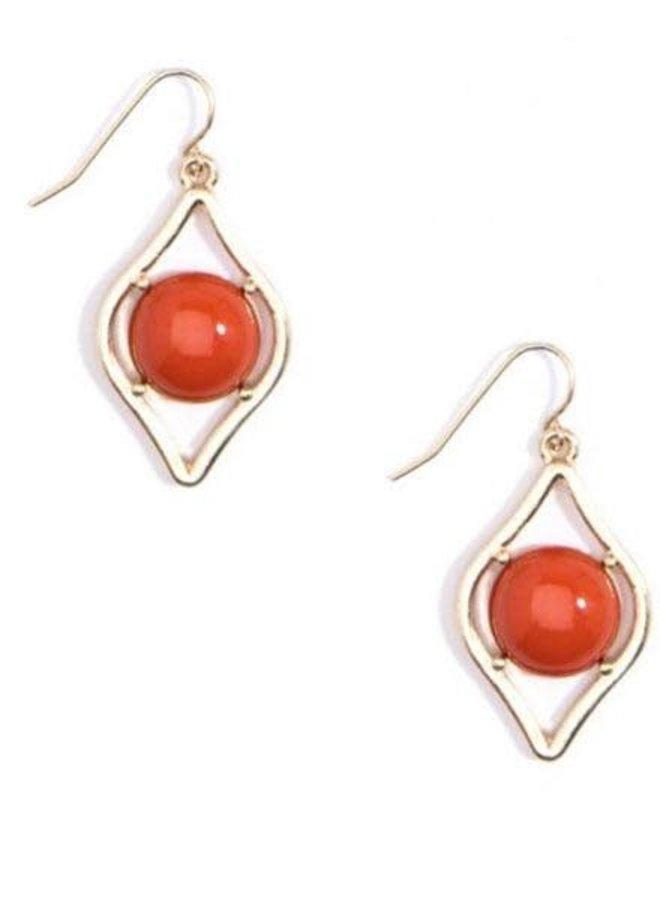 Sauron Drop Earrings In Orange