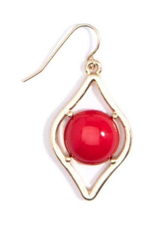 Sauron Drop Earrings In Red