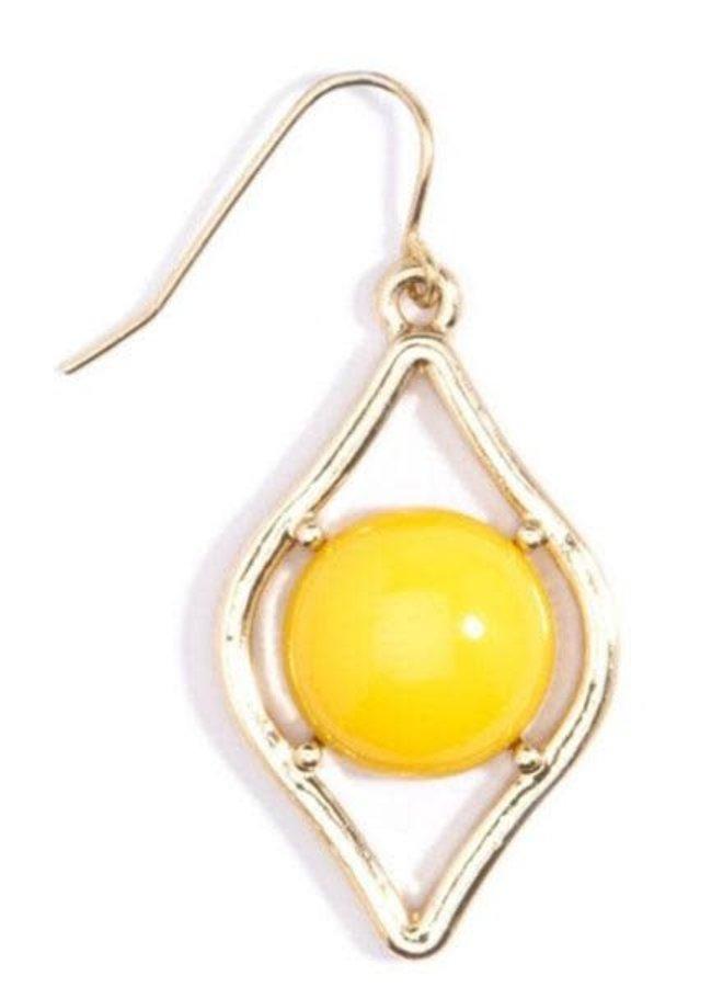 Sauron Drop Earrings In Yellow