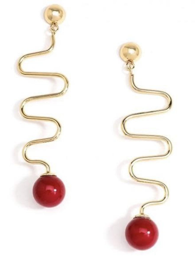 Lombard Street Earrings In Red