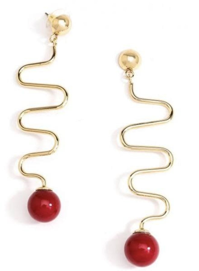 Lombard Street Earrings In Red