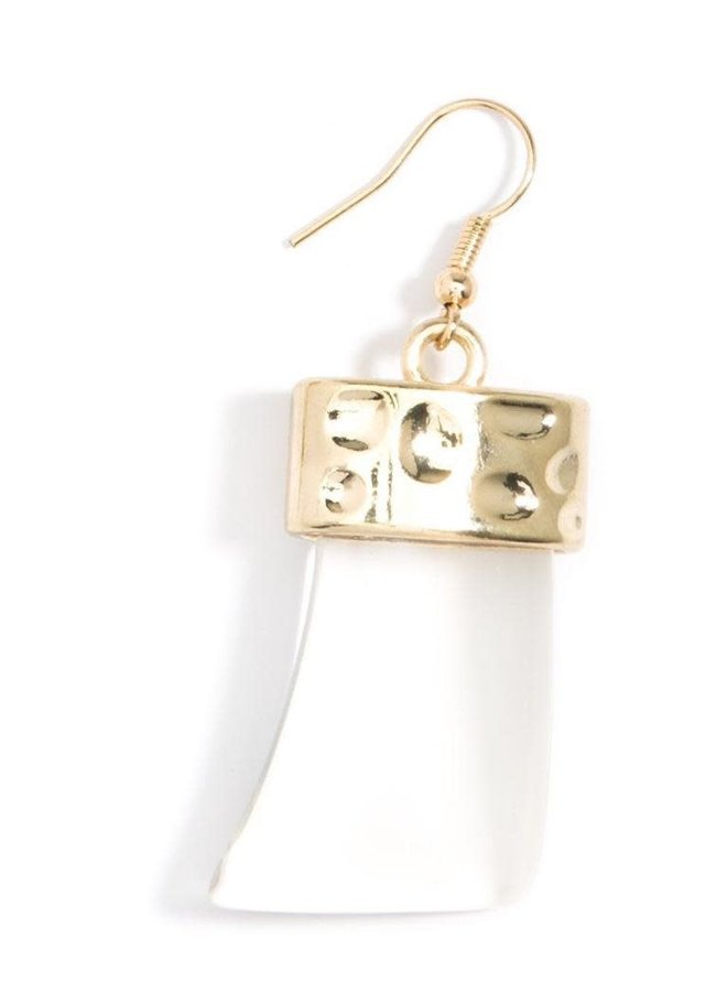 Chunky Acrylic Drop Earrings In Clear