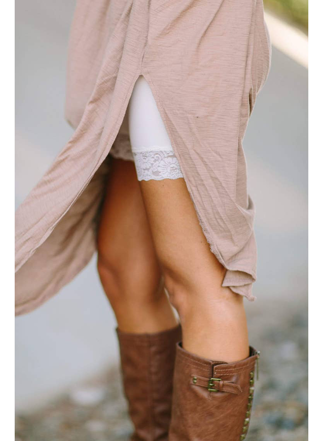 Lace Peek Layering Shorts
