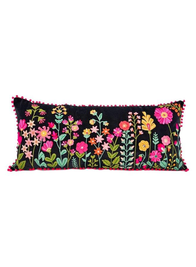 Karma Living's Amazing Embroidered Velvet Pillow