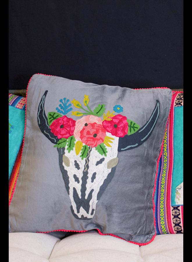 Karma Living's To Die For Skull Cushion