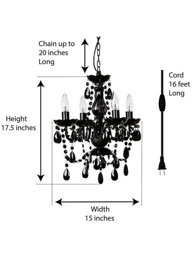 4 Light Plug-In Chandlier