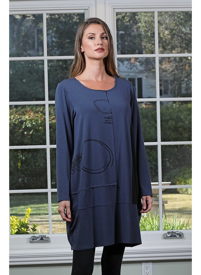 Chalet Miley Dress In Blue Night