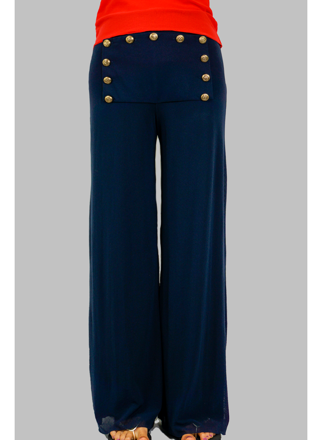 Petit Pois Lined Nautical Pants
