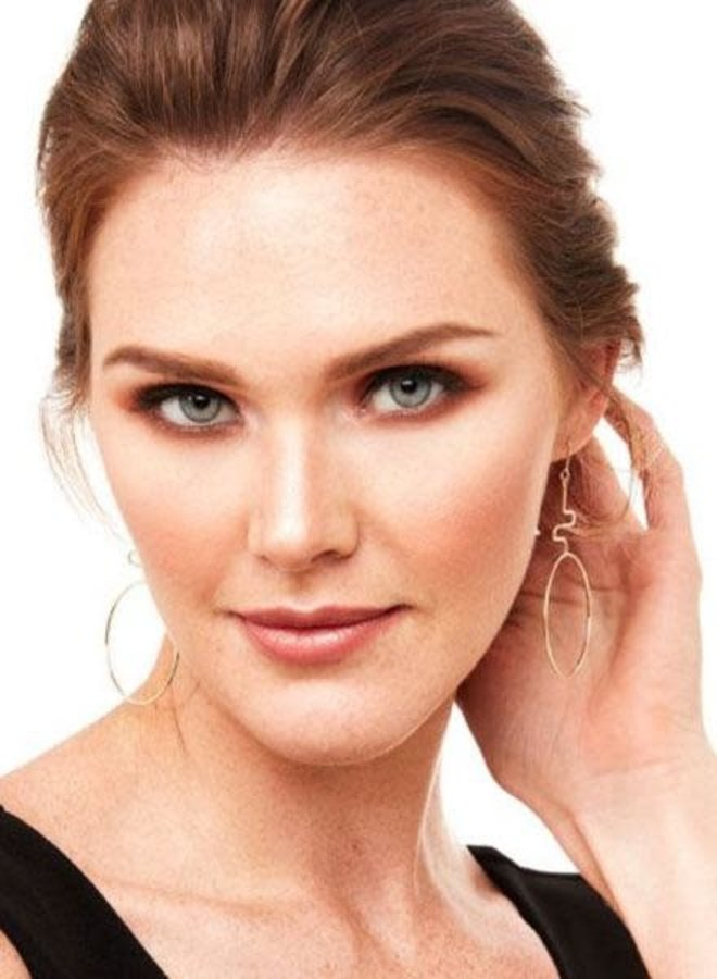 Abstract Drop Silhouette Earrings In Gold
