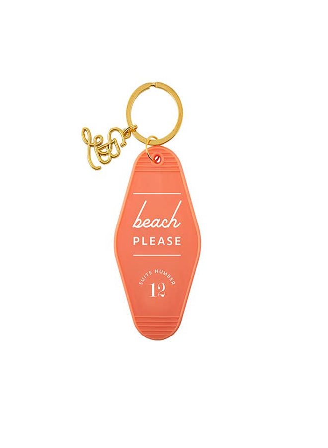 Beach Please Key Tag