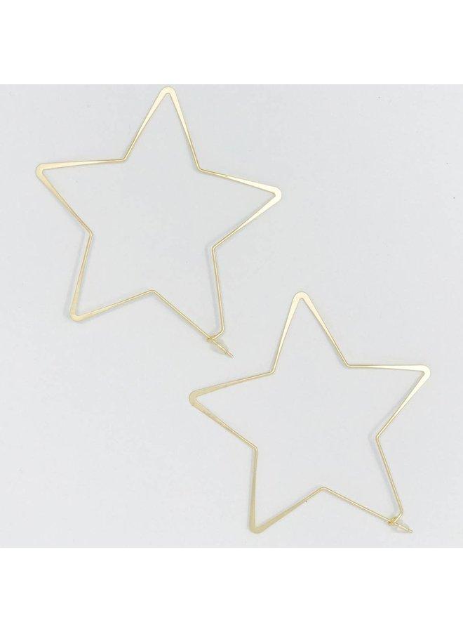 Twinkle Star Hoop Earrings