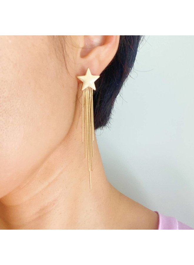 Star Streaming Earrings