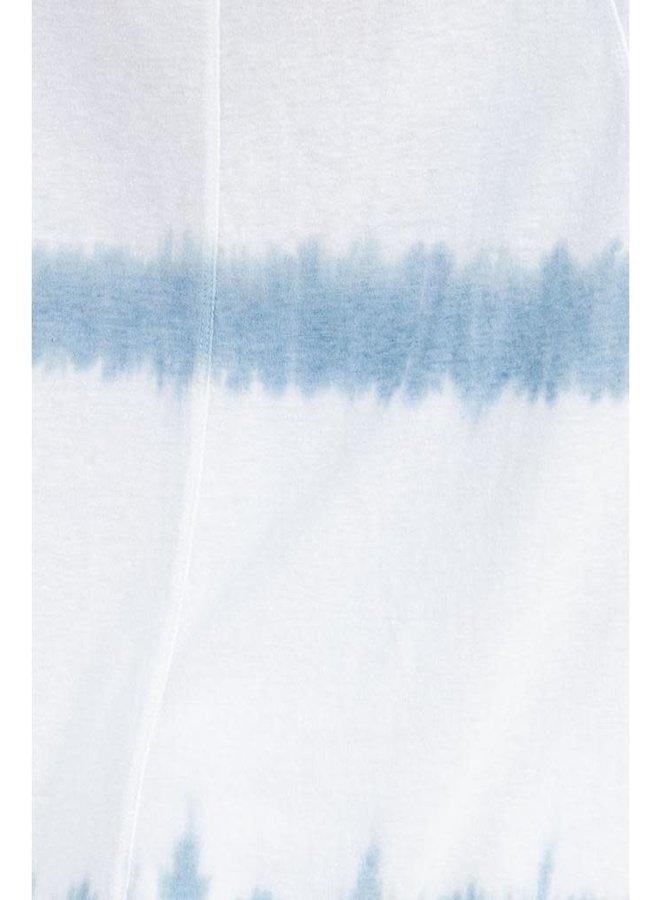 Tie Dye Boxy Top In Blue Grey