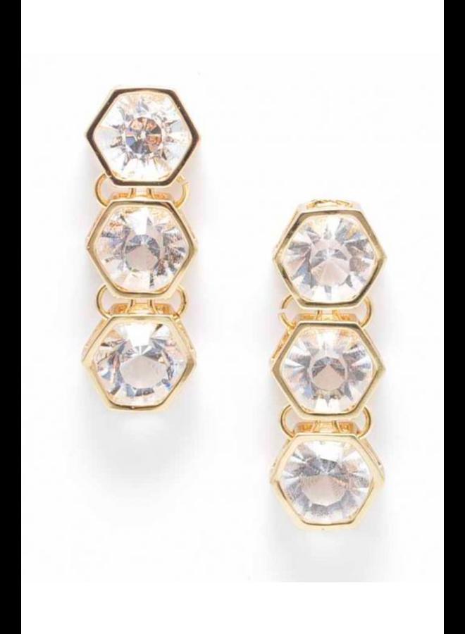 Triple Crystal Earrings