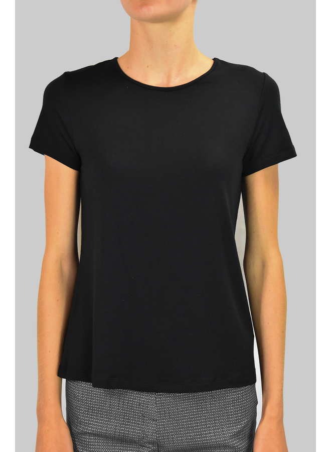 Comfy Short Sleeve Tee In Black