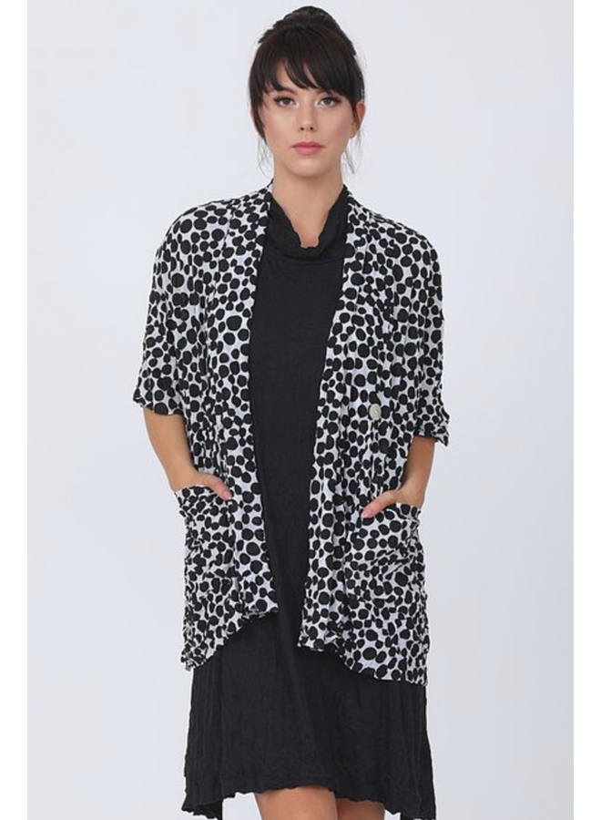 Chalet Gillian Cardigan In Black Polka Dots