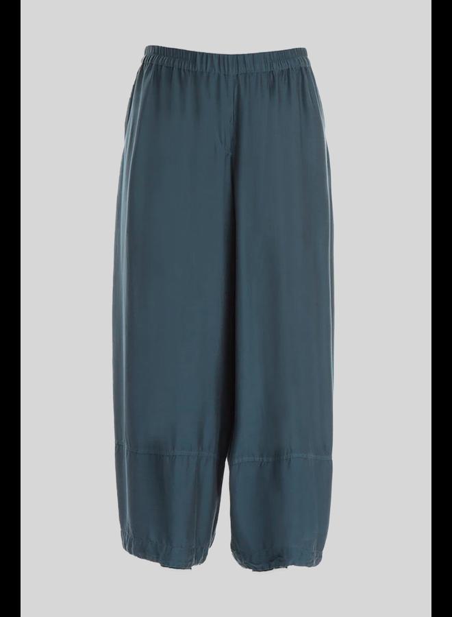 Griza Silk Trousers In Brass Blue