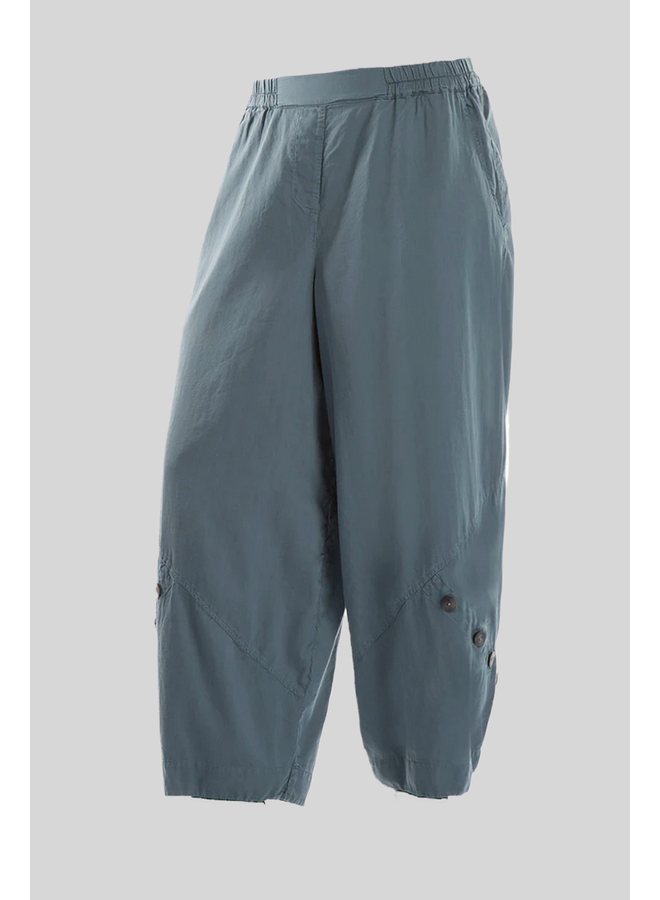Griza Button Pant In Brass Blue