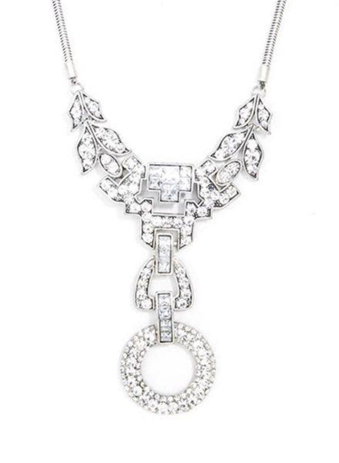 Antiqued Dazzling Crystal Necklace