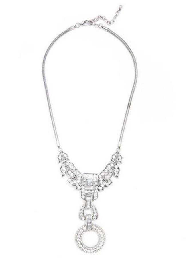 Antiqued Dazzling Crystal Necklace