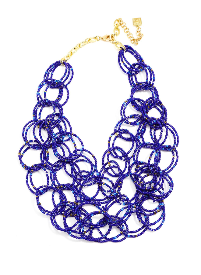 We Bead-LONG Together Link Necklace In Cobalt