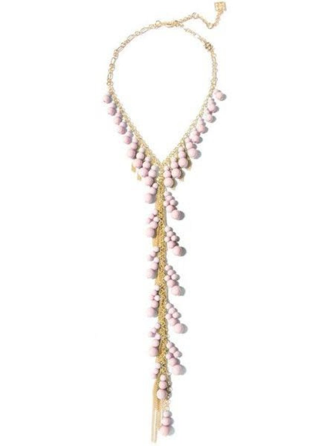 Dew Drops Lariat Necklace In Rose