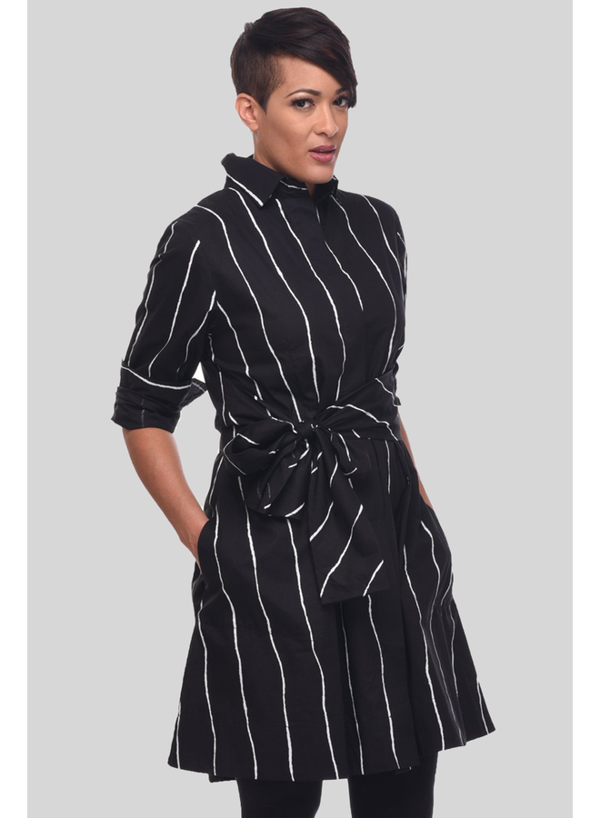 Tulip's Ronnie Tunic Dress In Static Stripe