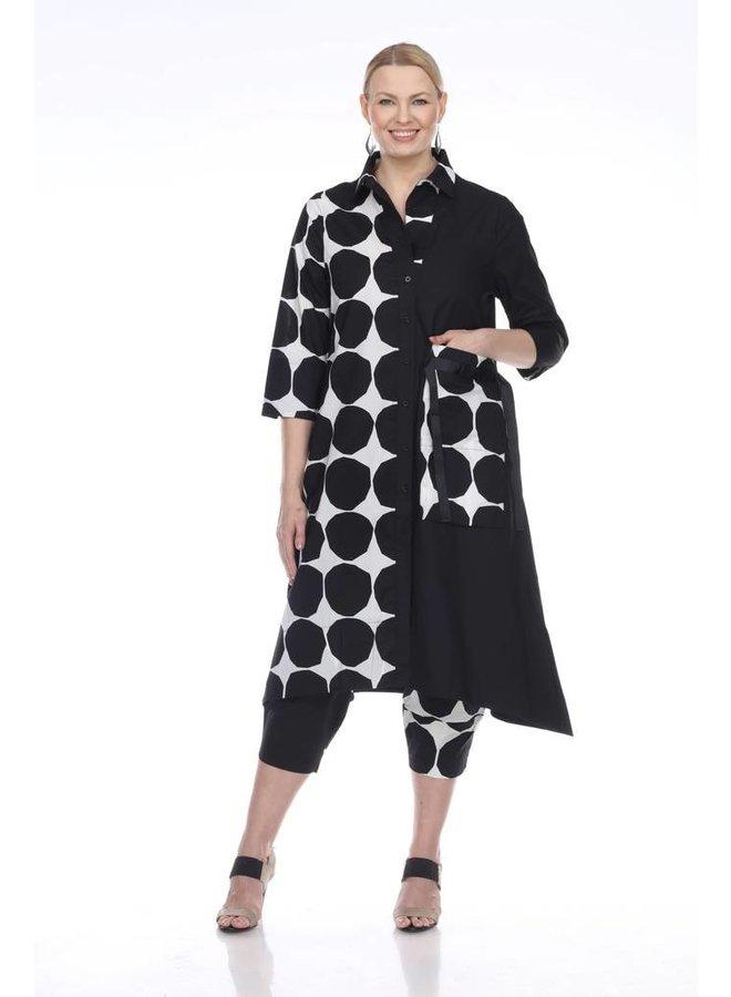 Terra Dress/Coat In Big Dots