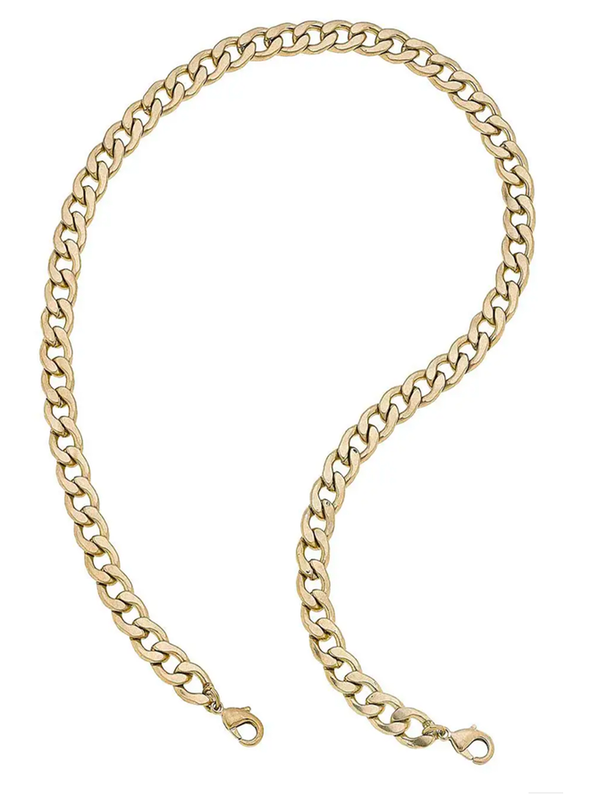 Bold Curved Chain Mask Necklace