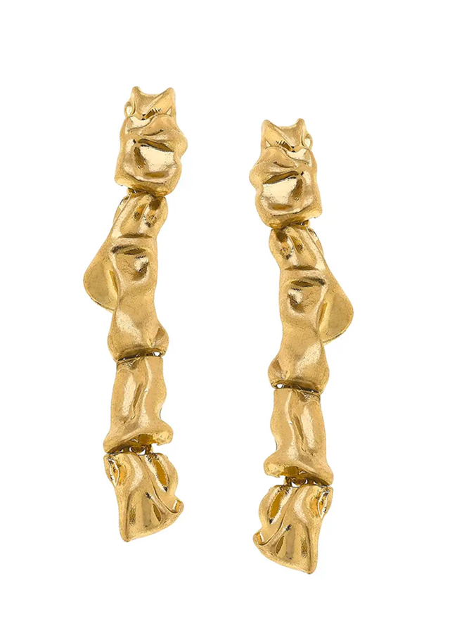 Athens Earrings In Satin Gold
