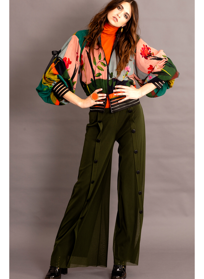 Petit Pois Palazzo Sailor Pant In Army