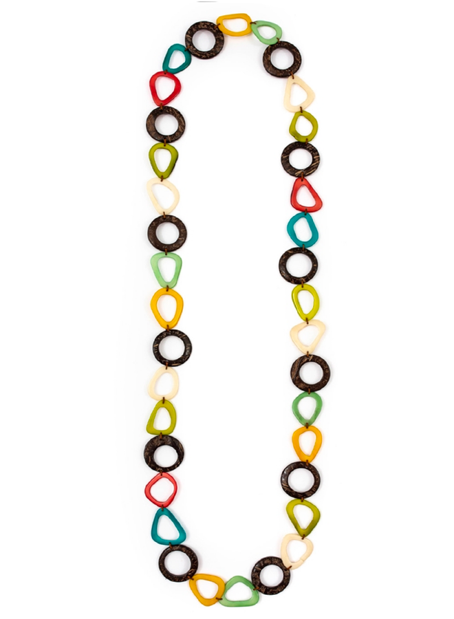 Tagua Nina Necklace in Multi Color