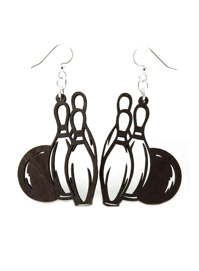Bowling Ball & Pin Earrings