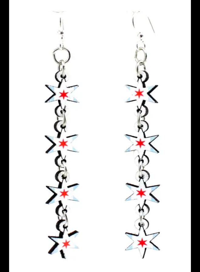 Chicago Star Earrings